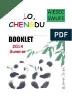 Booklet of Hello Chengdu Summer