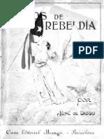 Diego Martínez, José de - Cantos de rebeldía (Barcelona, 1916)