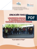 Educacion Familiar Lineamientos