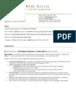 Remi Gillig Resume/CV (English)