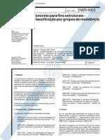 NBR 8953 - Concreto Para Fins Estruturais - Classificação Por Grupo de Resistência
