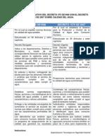 Cuadro Comparativo Del Decreto 475 De1998 Con El Decreto 1575 de 2007