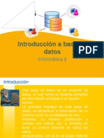 Introducción a Base de Datos