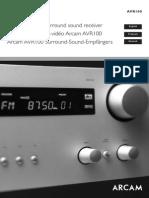 Arcam AVR 100 Manual