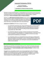 Presupuesto Participativo FEPUC - Proyecto Estudiando la violencia política en el Perú