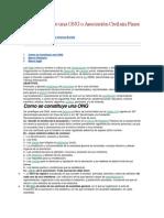 Constitución de Una ONG o Asociación Civil Sin Fines de Lucro