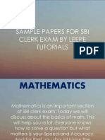 SBI Clerk Sample Papers