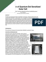 Construction of Quantum-Dot Sensitized Solar Cell