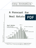 A Forecast For Real Estate