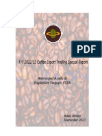 Ethiopia's Coffee Export Trading Special Report - Fiscal Year 2012-2013 - by Alemseged Assefa & Engdashet TsegayeECEAAddis AbabaSeptember 2013