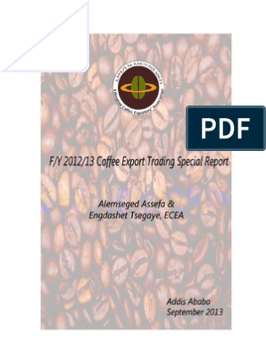 Ethiopia's Coffee Export Trading Special Report - Fiscal