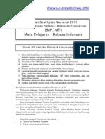 Prediksi Soal Indo Un Smp 2011
