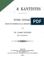 Goujon_Kant Et Kantistes 1901 (Avant Propos)