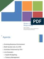 Role of CFO Apoorva Misra