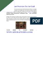 Development Overview for Art Craft