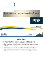 Lectute on Educational Institutional Reforms