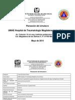 Planeacion de Simulacro UMAE Magdalena de Las Salinas