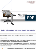 Police officers train with stray dogs in San Antonio