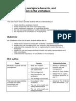 OHS Hazard Assessment Case Study
