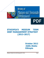 ETHIOPIA'S MEDIUM TERM DEBT MANAGEMENT STRATEGY