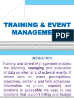 Training and Event Management
