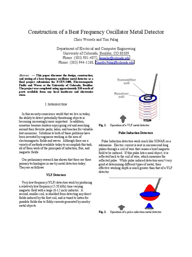 Metal Detector Inductor A Simple Bfo
