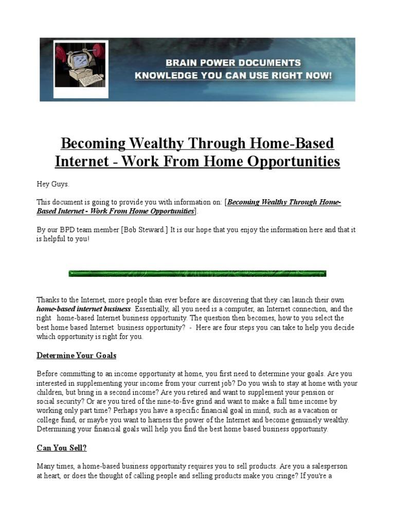 Modern Home Based Internet Business Opportunities Festooning - Home ...