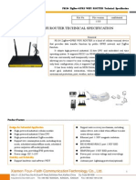 F8134 ZigBee+GPRS WIFI ROUTER SPECIFICATION