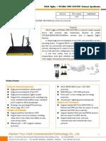 F8434 ZigBee+WCDMA WIFI ROUTER SPECIFICATION