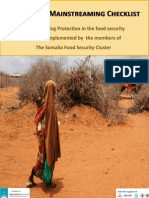 Somalia Food Security Cluster_Protection Mainstreaming Checklist