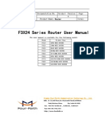 f3x24 Series Router User Manual