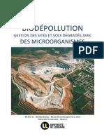 Biodépollution. Gestion des sites et sols dégradés avec des microorganismes
