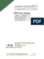 F8913 ZigBee Module User Manual