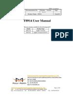 F8914 ZigBee Terminal User Manual