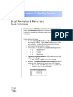 Excel Formulas Manual
