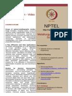 Materials Characterization - Video Course_S.sankaran_IITM_NPTEL