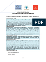 1º Nivel Intermedio - Contenidos - Inglés
