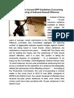 Calls to Reform Current DPP Guidelines Concerning the Sentencing of Indecent Assault Offences