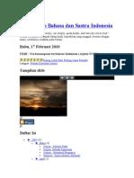 Wadah Info Bahasa Dan Sastra Indonesia