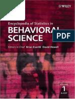 Wiley Encyclopedia of Statistics in Behavioral Science Vol 1-4 2005