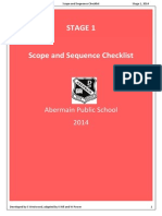 S1 English Scope and Sequence Checklist