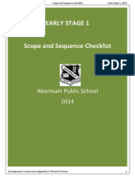 ES1 English Scope and Sequence Checklist
