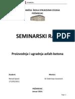 Seminarski Rad Asfalt