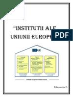 Institutii Ale Uniunii Europene