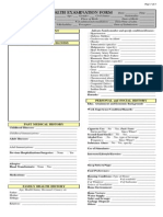 Medical Health Examination Form