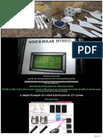 12v Solar Wind Hybrid Off Grid 1kw(WIND)-1kw(SOLAR)  (DIY)
