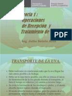 Teoría 1 Operaciones de Recepción y Tratamiento de Uva