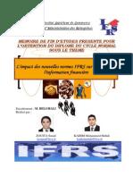 Limpact Des Nouvelles Normes IFRS Sur La Qualité de Linformation Financière