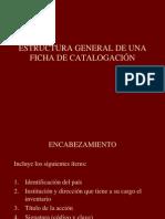 1 Estructura General de Una Ficha de Catalogacion