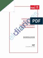Convocatoria y normativa del desarrollo del Congreso Federal del PSOE extraordinario (BORRADOR)